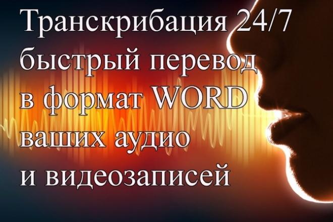 переведу ваши аудио и видеофайлы в формат word 1 - kwork.ru