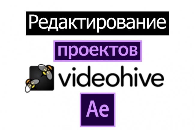 Редактирование проектов Videohive 1 - kwork.ru