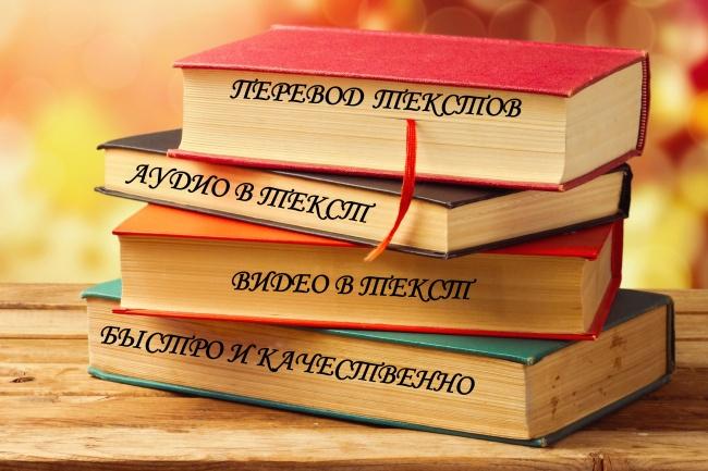 Быстрая и качественная транскрибация видео или аудио в текст 1 - kwork.ru