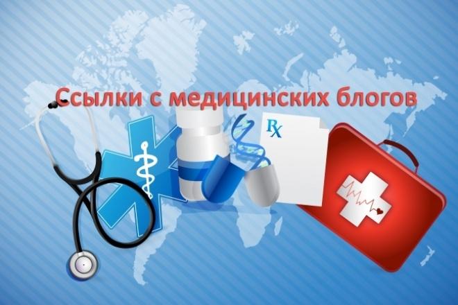 Ссылки с 30 медицинских блогов 1 - kwork.ru