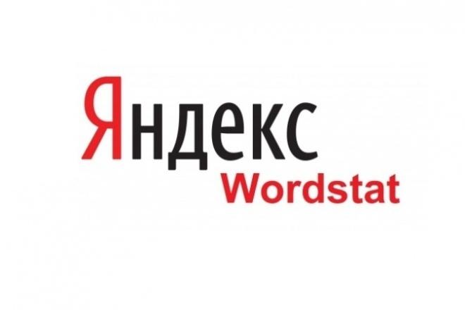 Сбор частотности в Яндекс Wordstat 10 000 ключей 1 - kwork.ru