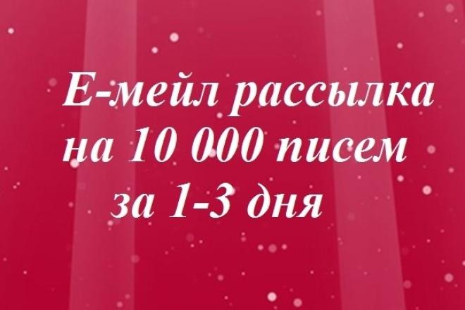 Е-мейл рассылка с видеоотчетом на 10 000 писем 1 - kwork.ru