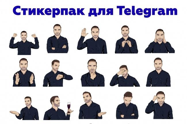 Нарисую стикерпак для Telegram по вашим фотографиям 1 - kwork.ru