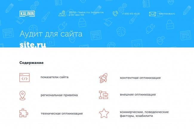 Полный SEO аудит сайта 1 - kwork.ru