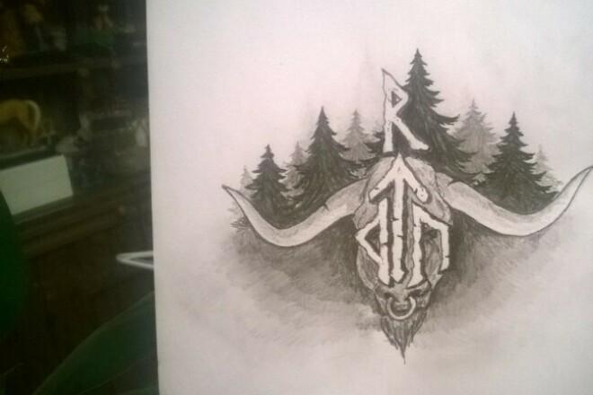 Напишу эскиз для татуировки 1 - kwork.ru
