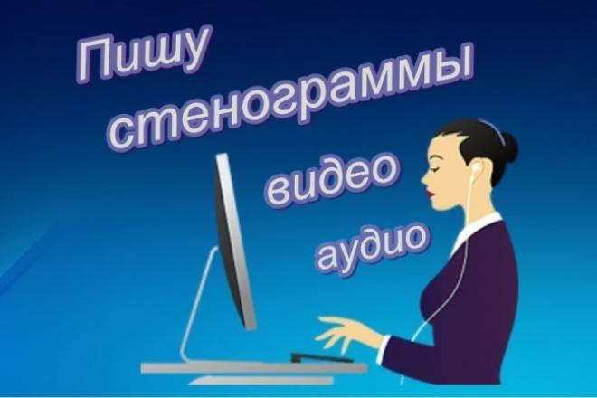 Пишу стенограммы аудио видео 1 - kwork.ru
