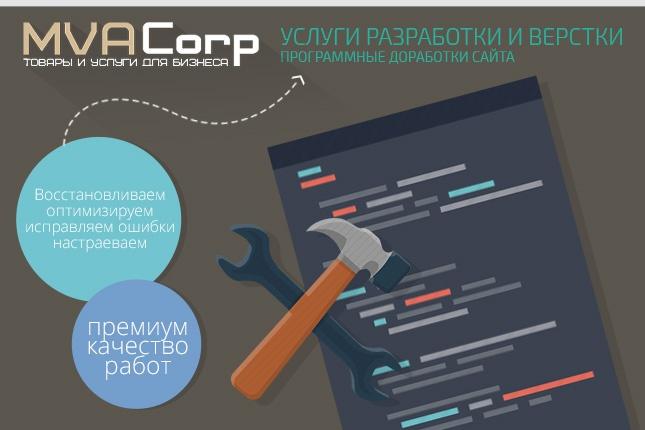 оптимизирую, устраню ошибки, доработаю ваш сайт 1 - kwork.ru
