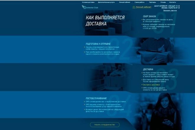 верстка по PSD 1 - kwork.ru