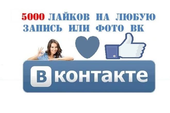 Накручу 5000 лайков на любую запись вк 1 - kwork.ru