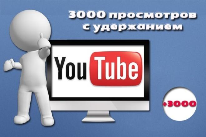Просмотры на «Ютубе» с удержанием — 3000 просмотров 1 - kwork.ru