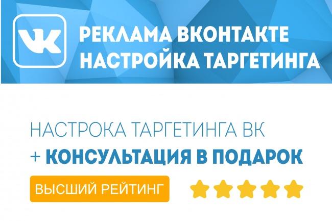 Настрою таргетинг ВК 1 - kwork.ru