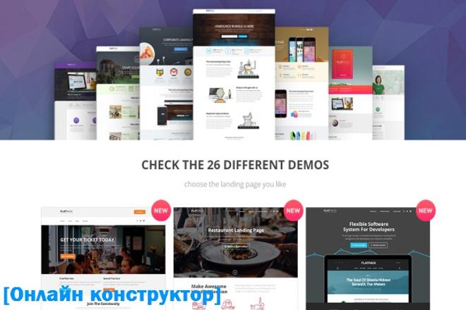 Онлайн конструктор лендингов (landing pages) 1 - kwork.ru