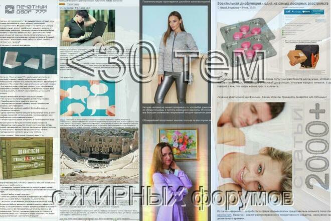 Создам 30 тем на жирных форумах. Статьи 2000-2500 1 - kwork.ru