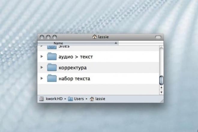 Аудио/видео → грамотный текст 1 - kwork.ru