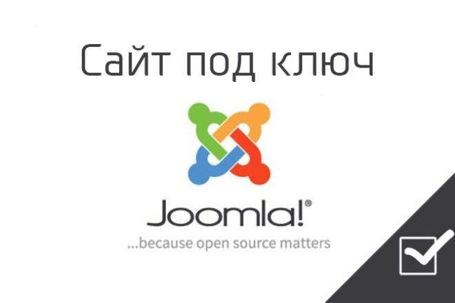 Сайт на JoomlaСайт под ключ<br>Создам сайт под ключ на популярной cms joomla: - Установка cms на хостинг - Настройка cms - Верстка шаблона по вашему дизайну - Установка и настройка расширений - Установка и настройка плагинов<br>