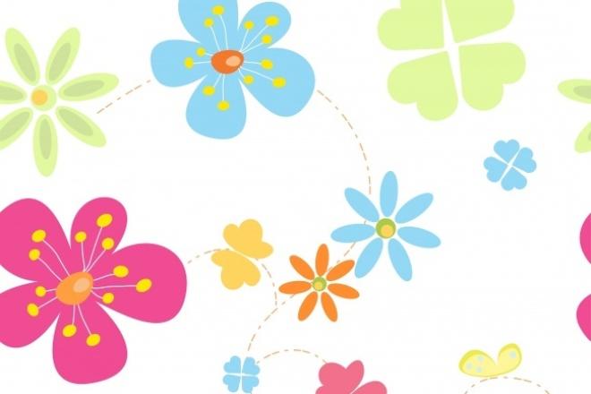 Безшовная текстура из элементов в вектореИллюстрации и рисунки<br>Создам несложную текстуру из графических векторных элементов, которую можно использовать для дизайна, графики или полиграфии<br>