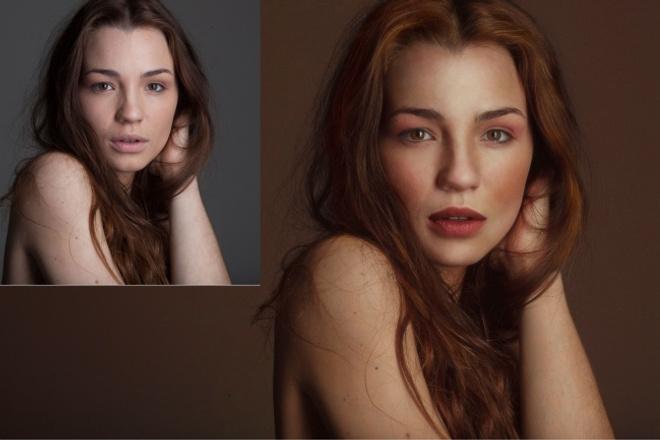 Обработка женского портрета 1 - kwork.ru