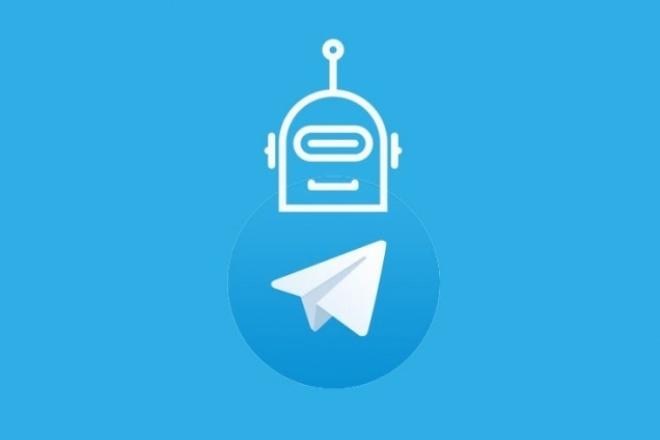 Создам telegram ботаСкрипты<br>Создам бота для telegram. Любой доступный функционал, широкие возможности(от простых фраз и вопросов боту, до кнопочек и команд) Работа с внешними api, интеграция с вашим ресурсами (сайты, сообщества). В рамках данного кворка включена только создание бота и работа с готовыми данными(если такие есть), получение и агрегирование дополнительных данных с сайтов или API за отдельную плату.<br>