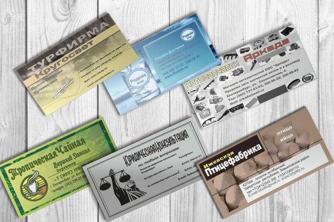 Визитки на заказВизитки<br>Визитная карточка один из наиболее важных инструментов в деловой коммуникации, то как она будет выглядеть играет особую роль при формировании представлении о вашем бизнес проекте ! Данный кворк представляет серьезное отношение к данному элементу бизнеса. Качественное и быстрое исполнение с учетом всех ваших пожеланий. разработка 5 вариантов визитной карточки !<br>
