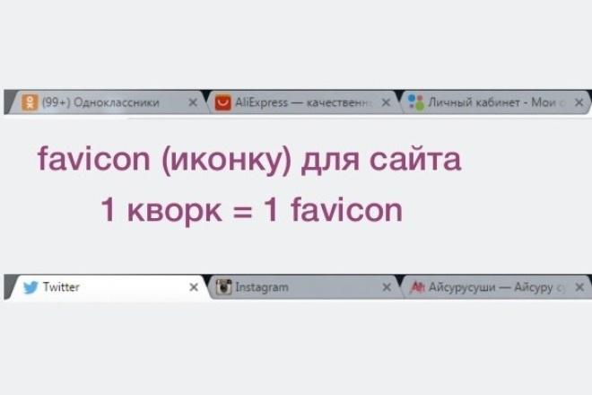 favicon (иконку) для сайта 1 - kwork.ru