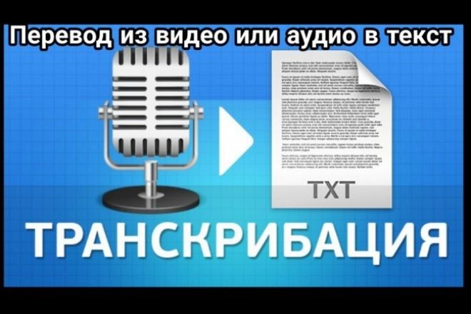 Транскрибация - перевод из видео в текст или из аудио в текст 1 - kwork.ru