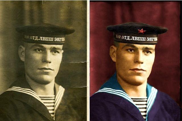 Восстановление старых фотографий, ретушь, цветокоррекция, раскраска 1 - kwork.ru