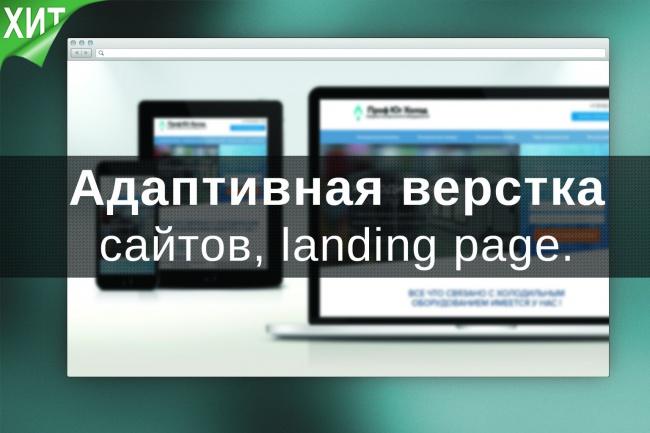 Адаптивная верстка html/css (мобильные сайты, landing page)Верстка и фронтэнд<br>Адаптивно сверстаю сайт или landing page, который будет отлично отображаться на всех устройствах (персональный компьютер, ноутбук, планшет и телефон) На выходе вы получите полностью сверстанный landing page/страницу, с полной адаптивностью. Чистый и валидный и кроссбраузерный код. Дополнительные опции: Формы заказа/обратной связи(с отправкой на почту). Слайдер или карусель. Посадка сайта/landing page на CMS ModX. Размещение на хостинге (1 месяц бесплатно, при условии если хостинг регистрируете через меня). Дополнительные опции можете выбрать при заказе данного кворка. Пишите, буду рад ответить на ваши вопросы.<br>