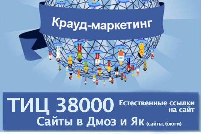 Естественные ссылки на сайт, тиц 12000 як, дмоз 1 - kwork.ru
