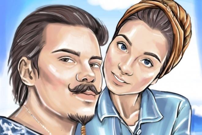 Создам стильный портрет по фотографии 1 - kwork.ru