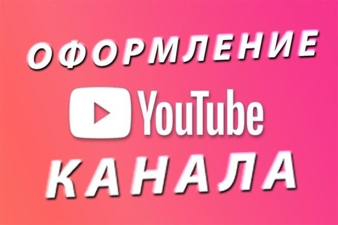 Оформление канала для Youtube 1 - kwork.ru