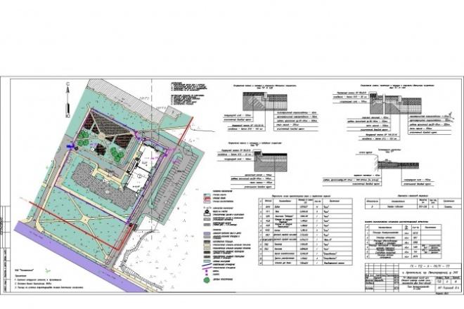 Схема земельного участкаИнжиниринг<br>Выполню разработку схемы организации земельного участка как самостоятельно, так и в составе раздела Генеральный план<br>
