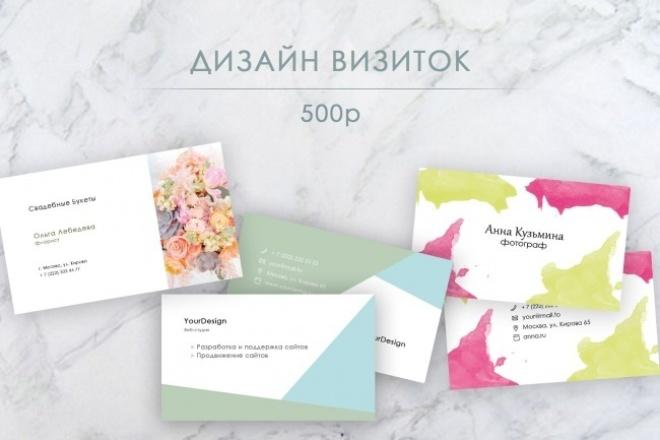 Уникальный дизайн визиток 1 - kwork.ru