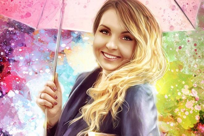 Сделаю яркий гранж-портрет по фотографии (авторский стиль) 1 - kwork.ru