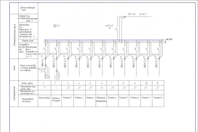 Выполню однолинейную схему электроснабжения в АвтокадеИнжиниринг<br>Разработка однолинейных схем электроснабжения или отдельных листов для проекта электроснабжения жилых зданий, больниц, детских садов и т.д.<br>