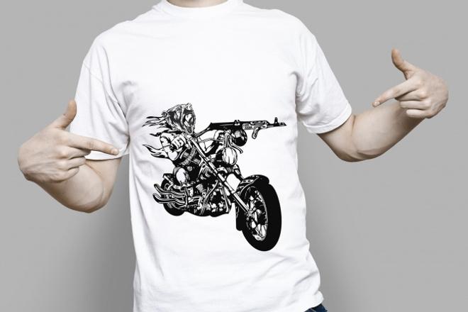 Принт на футболкуГрафический дизайн<br>Нарисую принт на футболку. Возможно по вашей картинке. Могу придумать сама и воплотить в жизнь. Работаю до полного утверждения.<br>