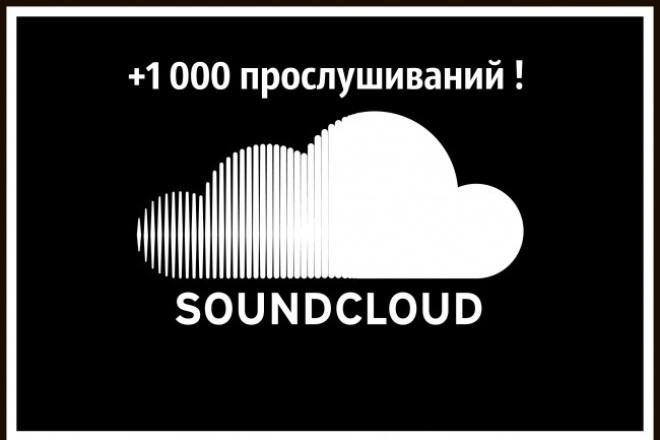 Soundcloud 1, 000 прослушиваний 1 - kwork.ru