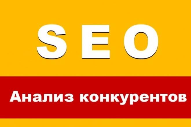 SEO Анализ конкурентов 1 - kwork.ru