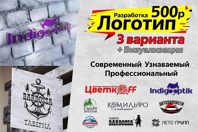 Разработка логотипа 23 - kwork.ru