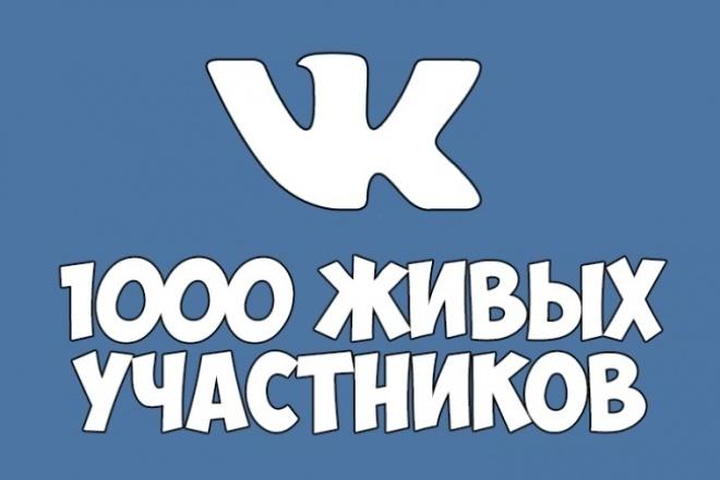 раскручу вашу группу вконтакте на 1000 живых человек 1 - kwork.ru