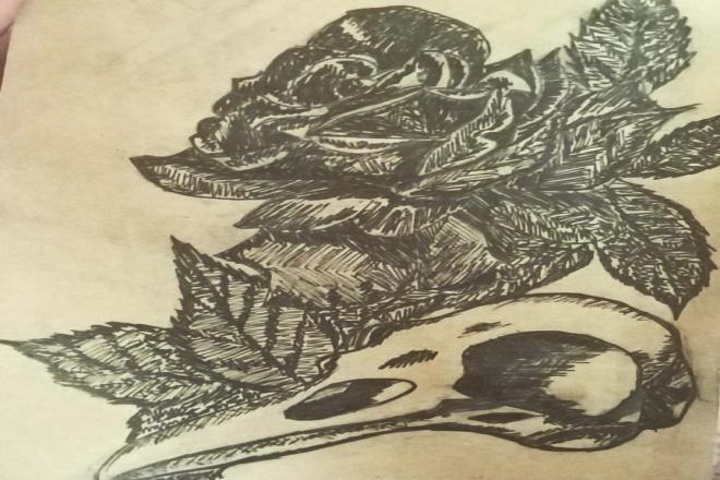 Нарисую тату - эскиз 1 - kwork.ru