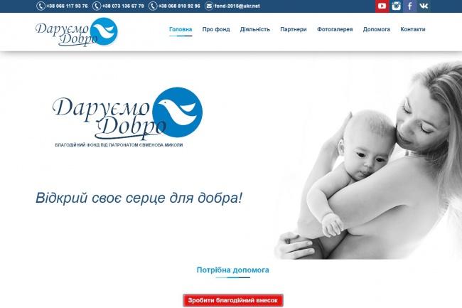 Вёрстка Twitter Bootstrap из PSD макета 1 - kwork.ru