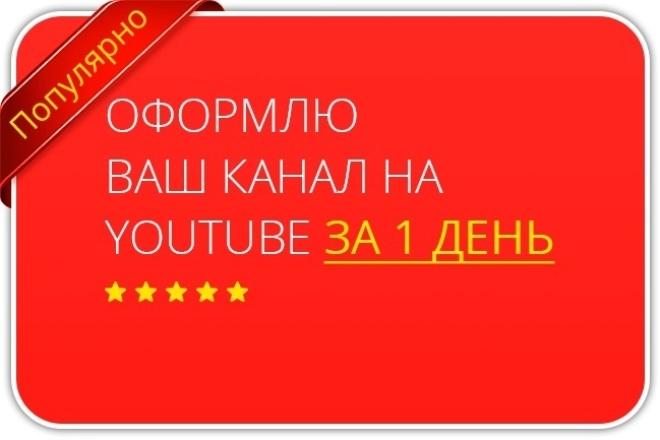 Оформлю канал YouTube за 1 день 1 - kwork.ru