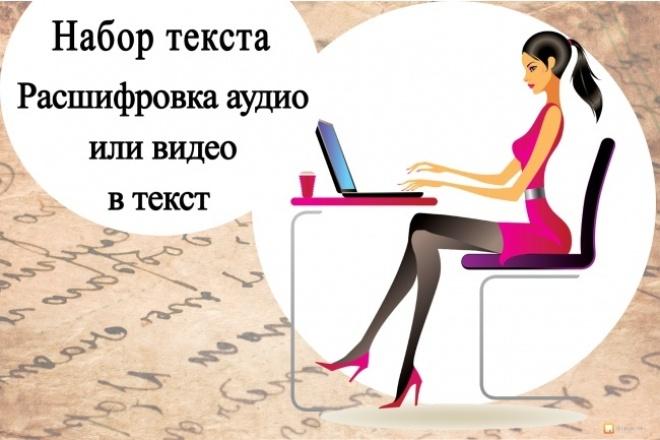 Наберу текст или сделаю транскрибацию видео или аудио в текст 1 - kwork.ru