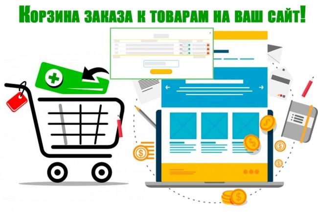 Добавлю корзину на сайт html, лeндинг. Корзина к вашим товарам на сайтДоработка сайтов<br>Прикручу к вашему html сайту, лeндинг странице (landing page) корзину для Ваших товаров с отправкой заказа на почту (без функции оплаты). Корзина товаров не является движком интернет-магазина и не имеет системы управления. Интеграция происходит к уже имеющимся товарам или добавленным в процессе интеграции.<br>