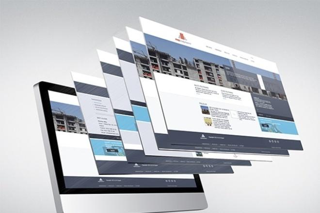 Сочный дизайн страницы сайта, последние тренды в оформлении 1 - kwork.ru