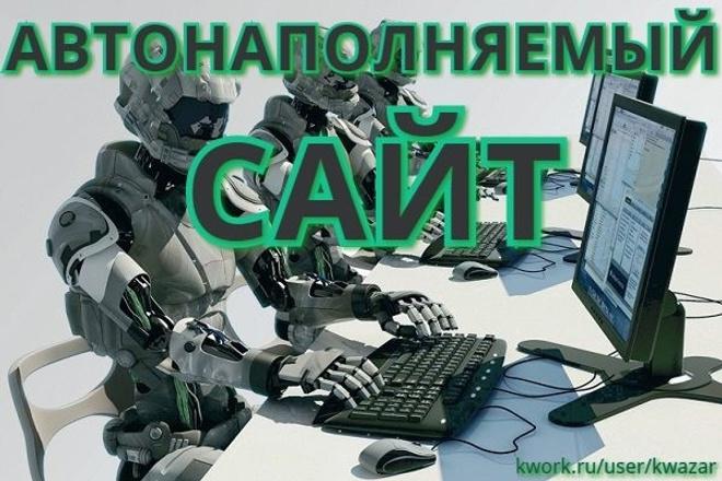Создам автонаполняемый сайт на WordPress 1 - kwork.ru