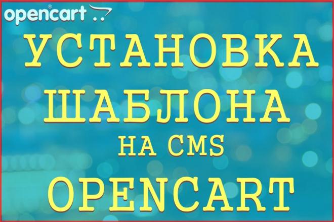 Установлю шаблон на Opencart 1 - kwork.ru