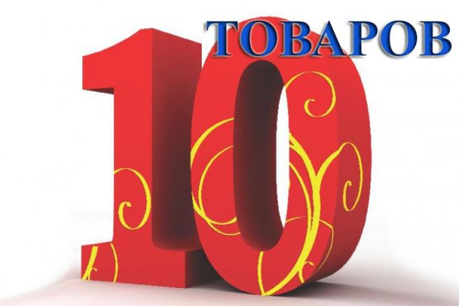 заполню интернет-магазин 10-ю товарами на ваших условиях 1 - kwork.ru