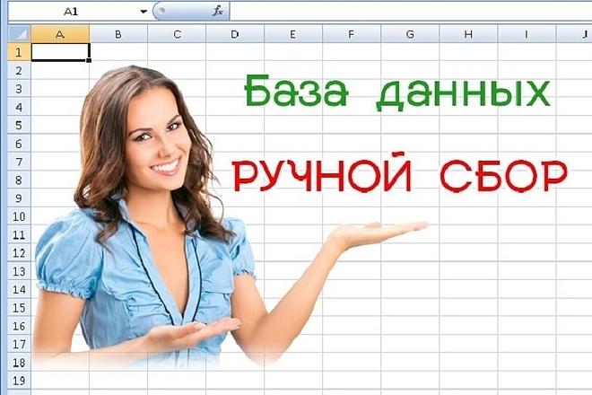 Вручную соберу базу данных организаций 1 - kwork.ru