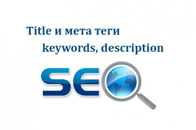 Продвигающие SEO мета теги - title, description, keywords 1 - kwork.ru